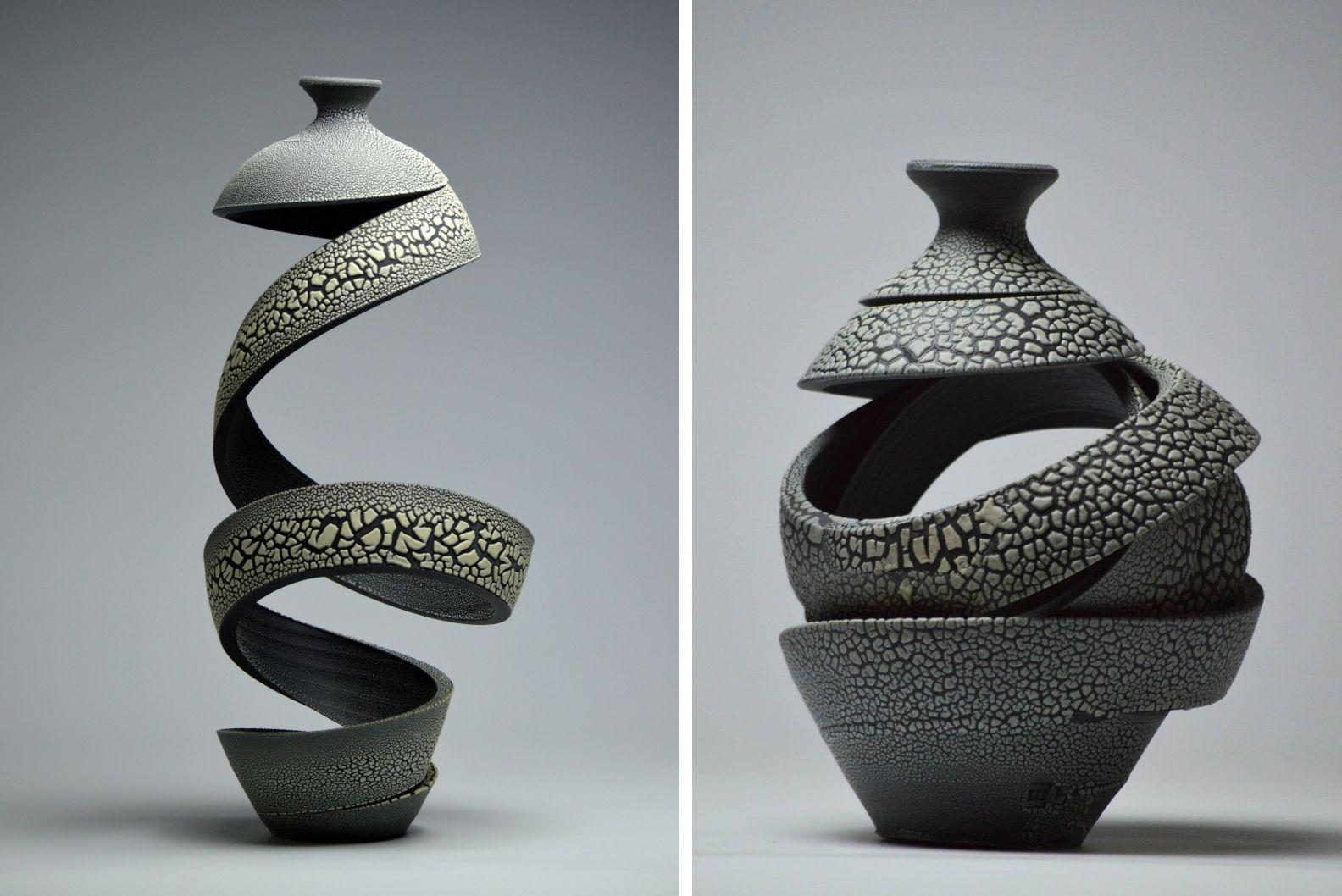 Colossal Ceramic Sculpture Spiral Art Ceramics