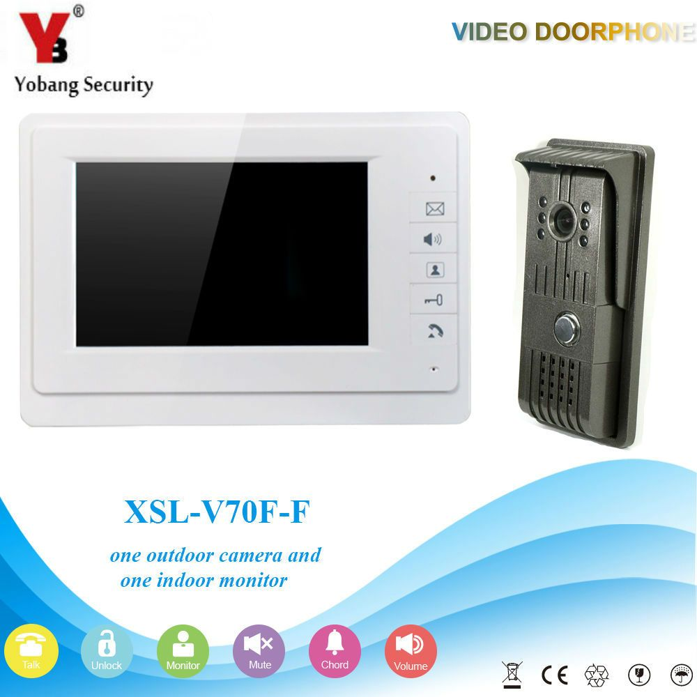 Yobangsecurity 7 Inch Door Viewer Video Doorbell Home Security