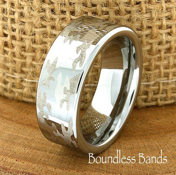 Camouflage Wedding Band Men S Tungsten Ring Tungsten Ring Men S Tungsten Band Tungsten