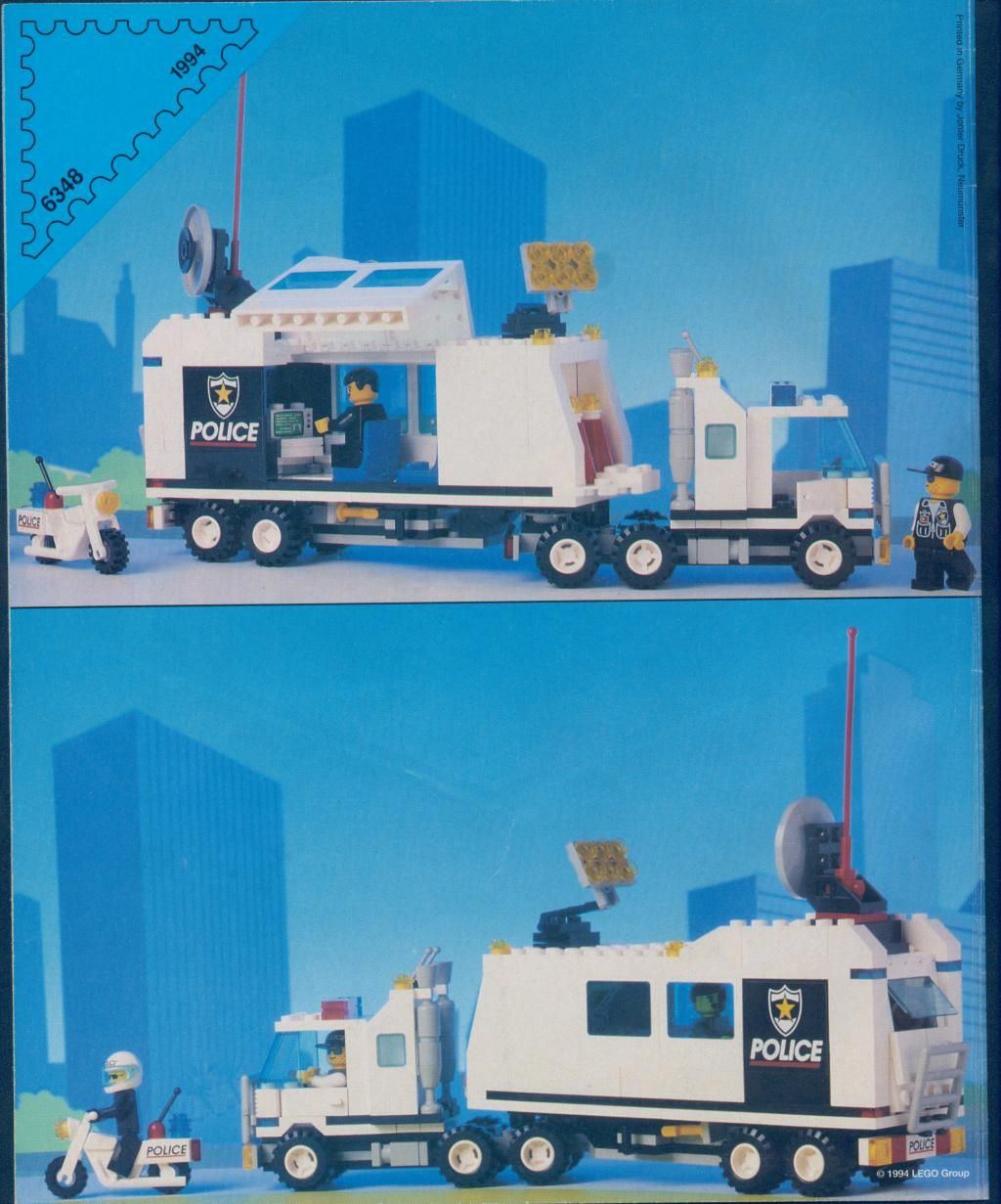 Lego 6348 Classic Town Police SURVEILLANCE SQUAD Complete w//Instructions