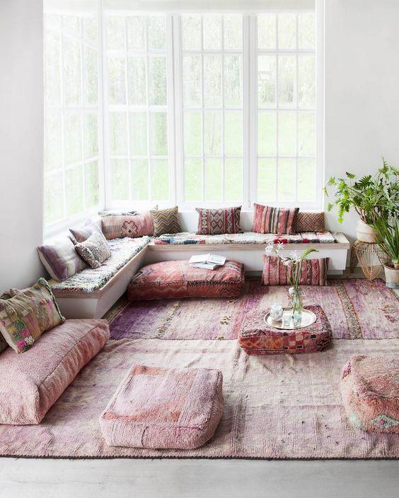 Boho Chic Style New England Home And Garden Modern Bohemian Living Room Living Room Inspiration Living Decor