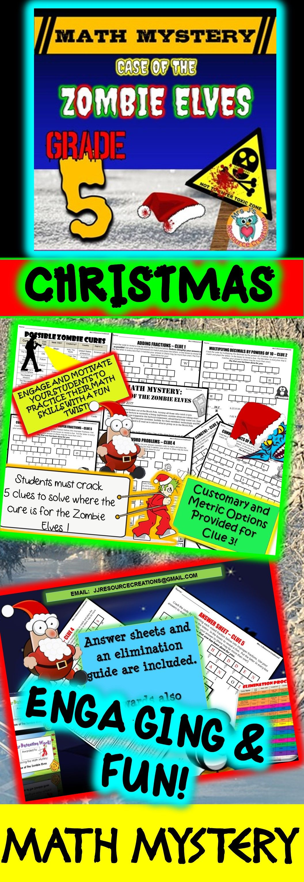 5th Grade Christmas Activity