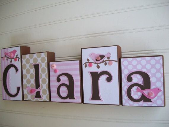 Name Blocks M2m Pottery Barn Kids Penelope Nursery Decor Baby Letter Wood Bedding