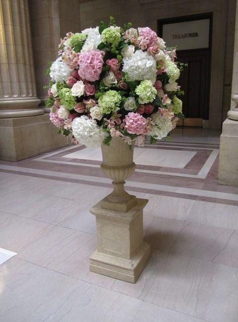 L j altar arrangements altars wedding and church flowers
