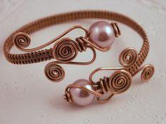 Copper Pearl Wrap Bracelet by MaryTucker, via Flickr
