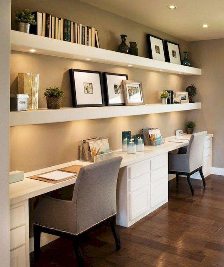 40 Classy Farmhouse Home Office Design - Decorhead.com #moderndecor #home #homedecor #interiordesign #decoration #design #modern #decor #style  #studyroom
