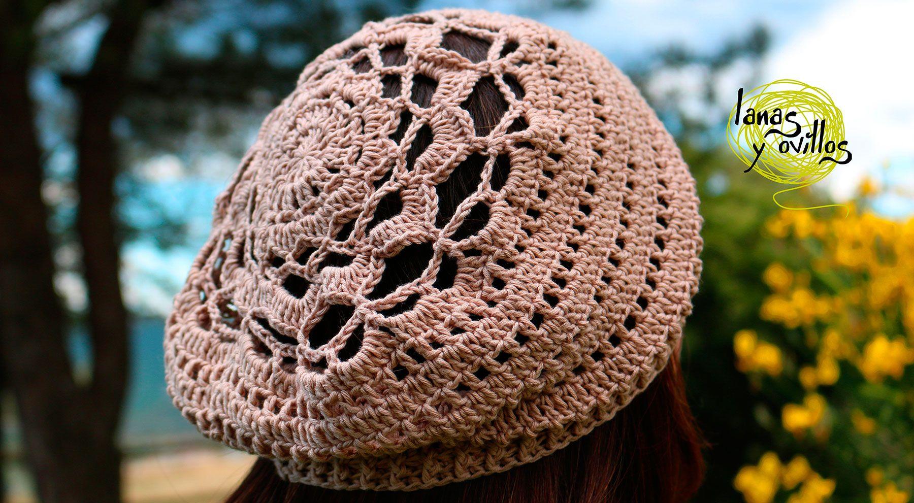 summer beret slouchy crochet free pattern patrón gratis | verano ...