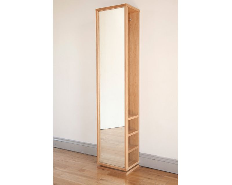 Beau Oak Storage Mirror The Futon Company £239