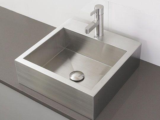 Stainless Steel Vessel Sinks Bathroom Sinks Modern Rectangular