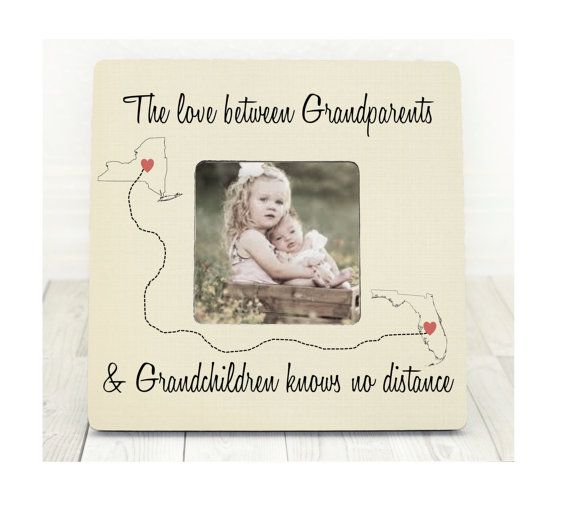Long Distance Grandparents and Grandchildren States Personalized ...