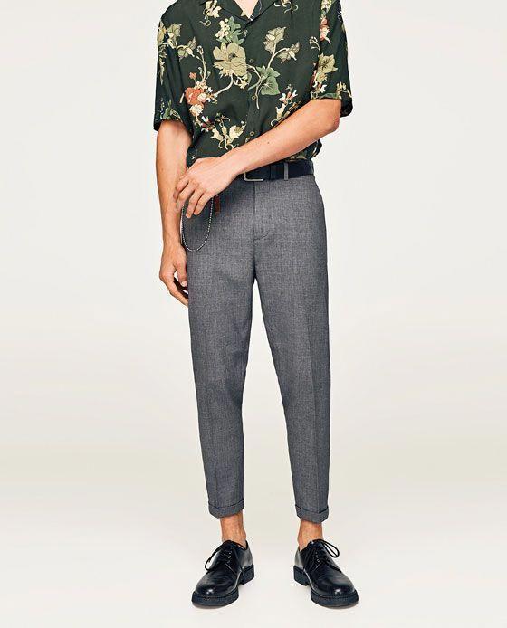 pantalon a fleur homme zara