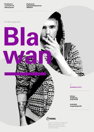 This poster uses the grid well They use color and font size to - fashion design posters