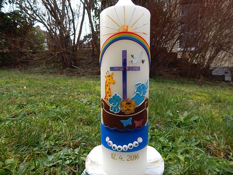 Taufkerzen - Taufkerze Arche Noah   - ein Designerstück von Olga-Lenz bei DaWanda
