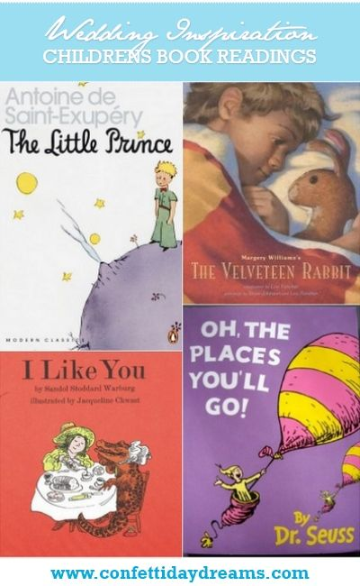 Wedding Readings From Childrens Books Confetti Daydreams