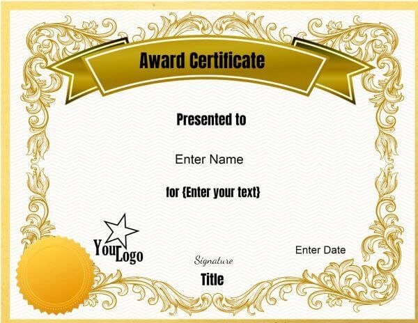 Certificate Of Achievement Word Template Mesmerizing Dgfggf  Best Bf Hubby Award  Pinterest  Certificate