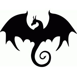 Silhouette Design Store: Flying Dragon Silhouette