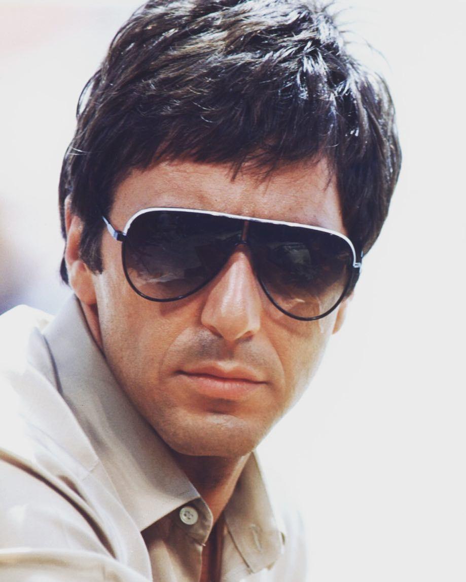 Al Pacino Tony Montana  shadeicons  carrera  sunglasses  icon  scarface   style  fashion 62aaa1e35f