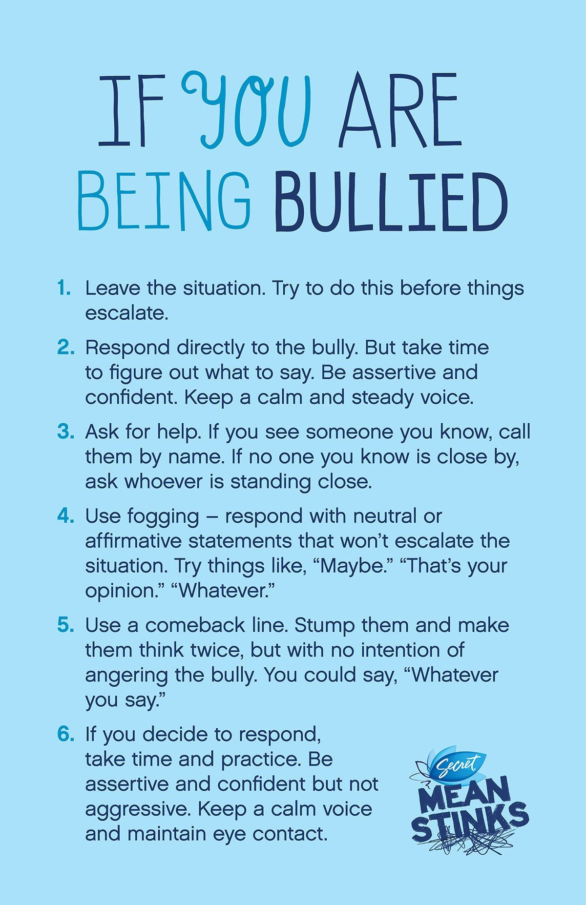 If You Are Bullied Poster