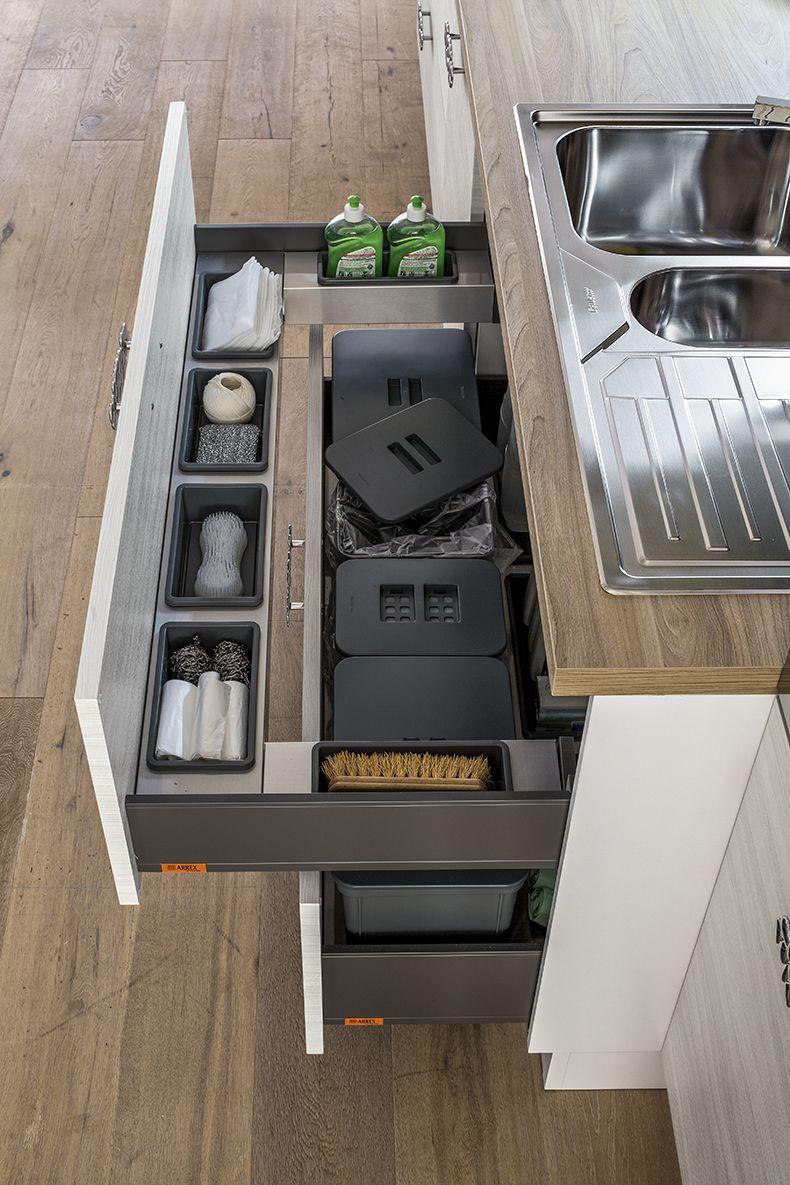 Arrex le cucine cassetti belli e funzionali per la tua cucina arrex cucine pinterest - Cassetti per cucine ...