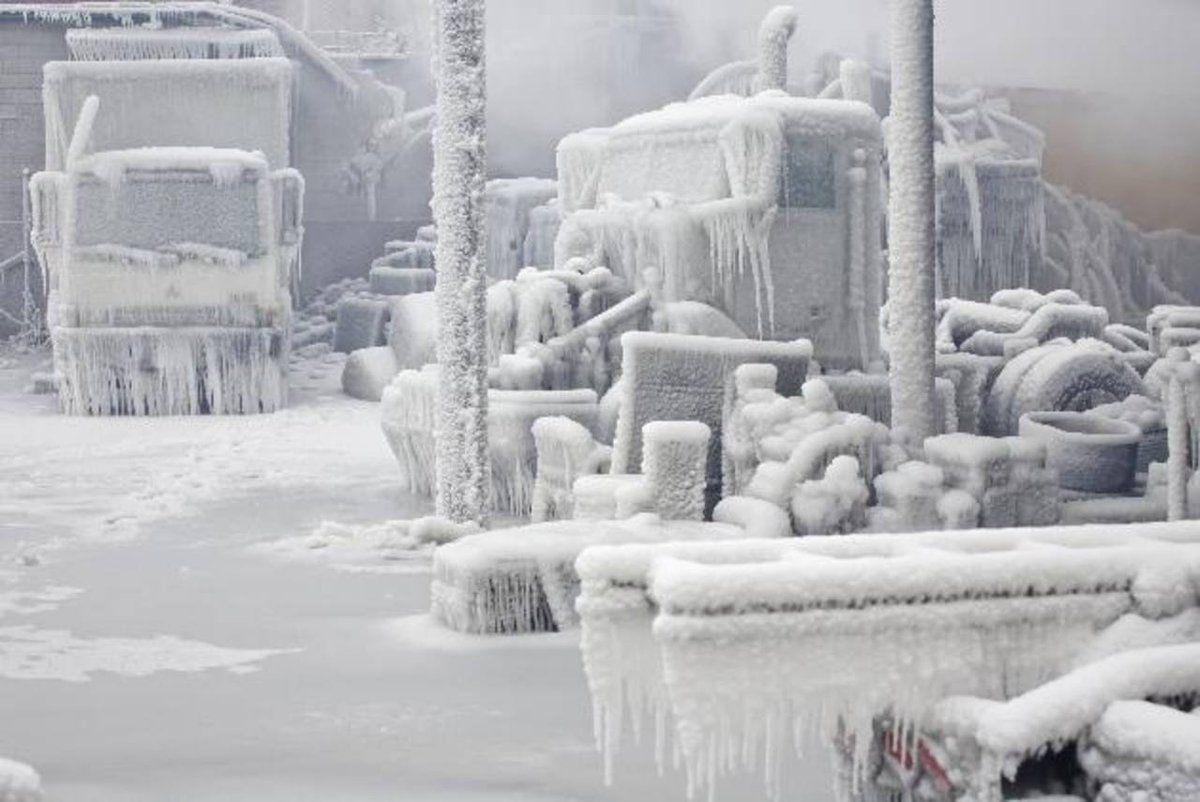 Las Heladas En Estados Unidos Han Dejado Espectaculares Postales Invernales Estilodf Chicago Neige Et Glace Paysage