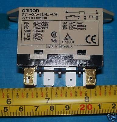 Omron G7L-2A-TUBJ-CB 18V  25A 2 pole normaly open relay