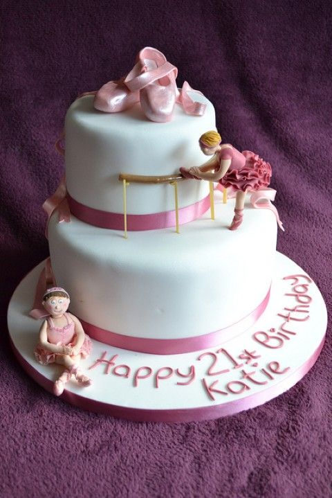 This Is The Cake I Want For Savannahs Th Birthday With Maybe A - Ballet birthday cake