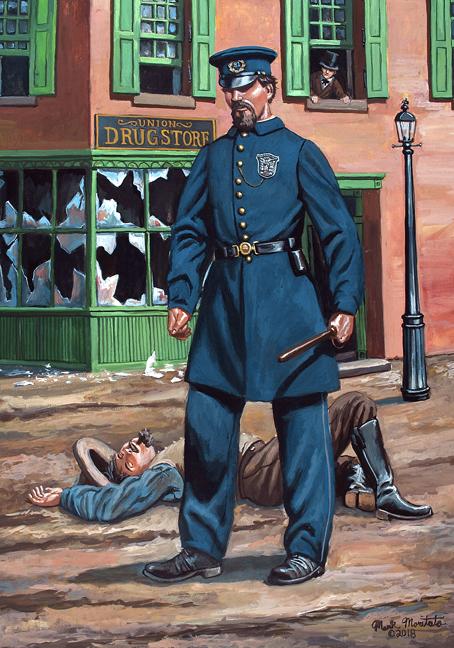 Metropolitan Police Officer 1863 New York City Police Officer Police Civil War