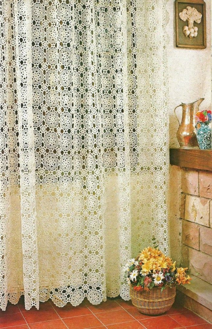 The Crochet Curtains Curtains With Charm Of Covers Home