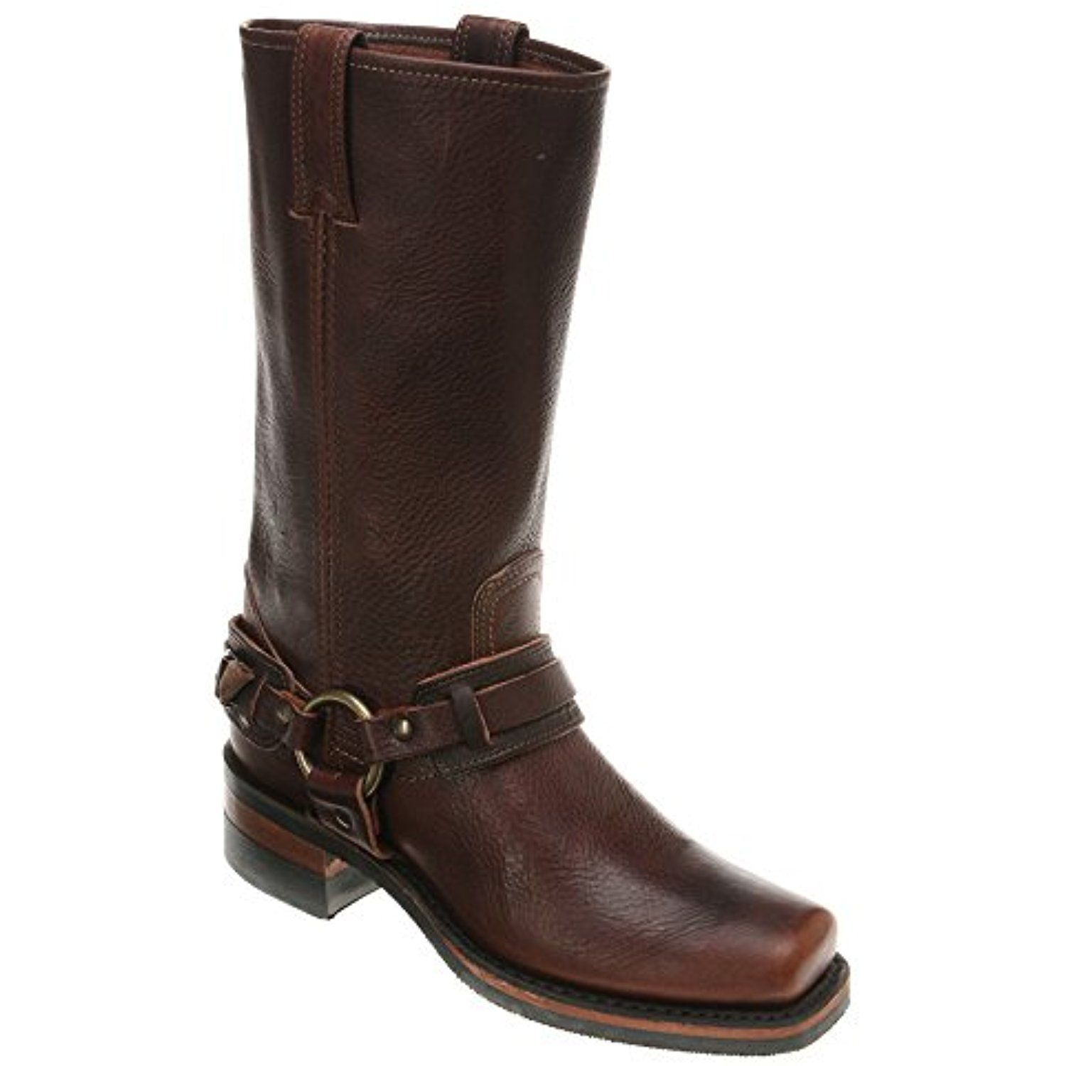 Frye Belted Harness Leather Pull-On Block Heel Boots kydOVnroiY