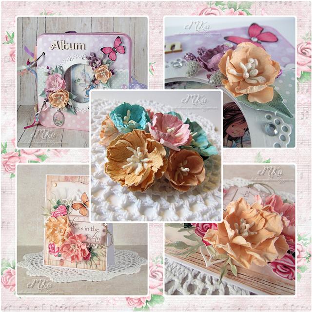 Papiery Do Scrapbookingu Prosty Kurs Na Kwiatki Paper Flowers Flowers Decorative Boxes