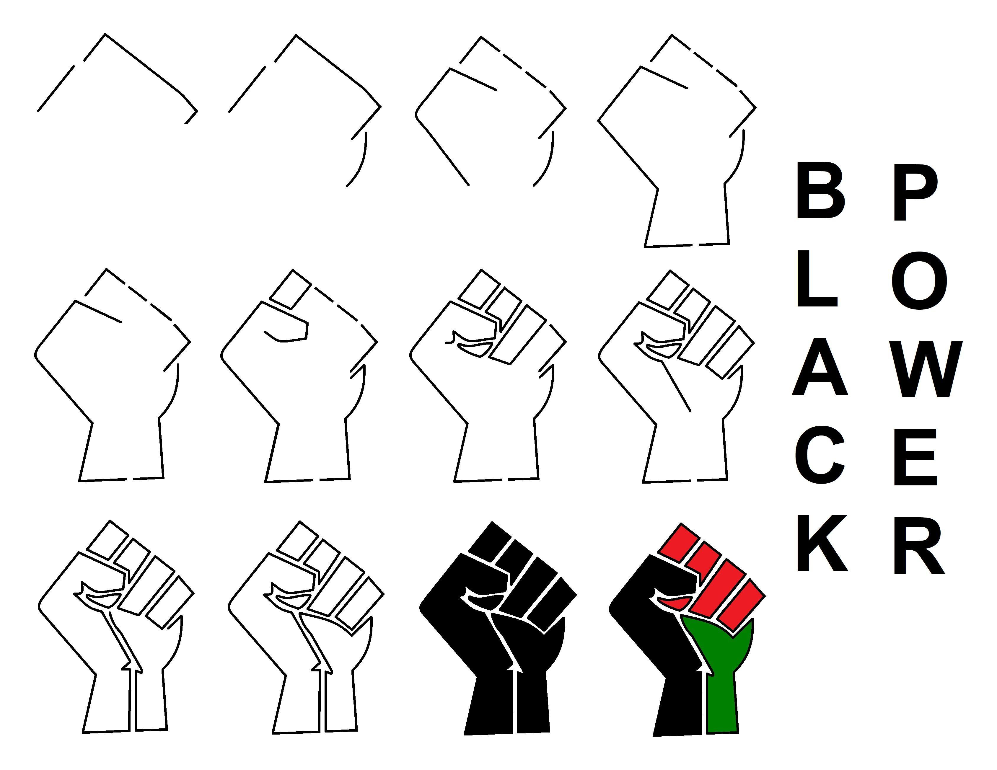 Black Power/Black Lives Matter Fist Logo en 2020