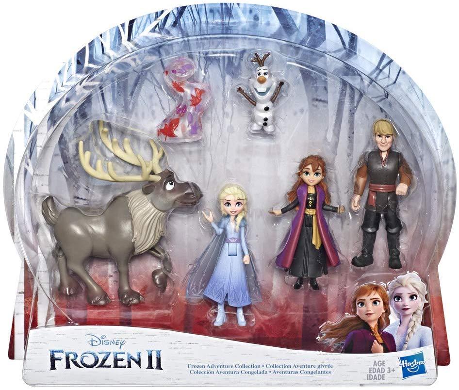 Disney La Reine Des Neiges 2 Coffret De 5 Mini Figurines Poupees Elsa Anna Kristoff Olaf Et Sv Reine Des Neiges 2 La Reine Des Neiges Disney Poupee Elsa