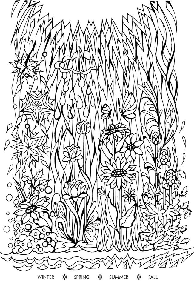 Creative Haven Deluxe Edition Four Seasons Coloring Book Welcome