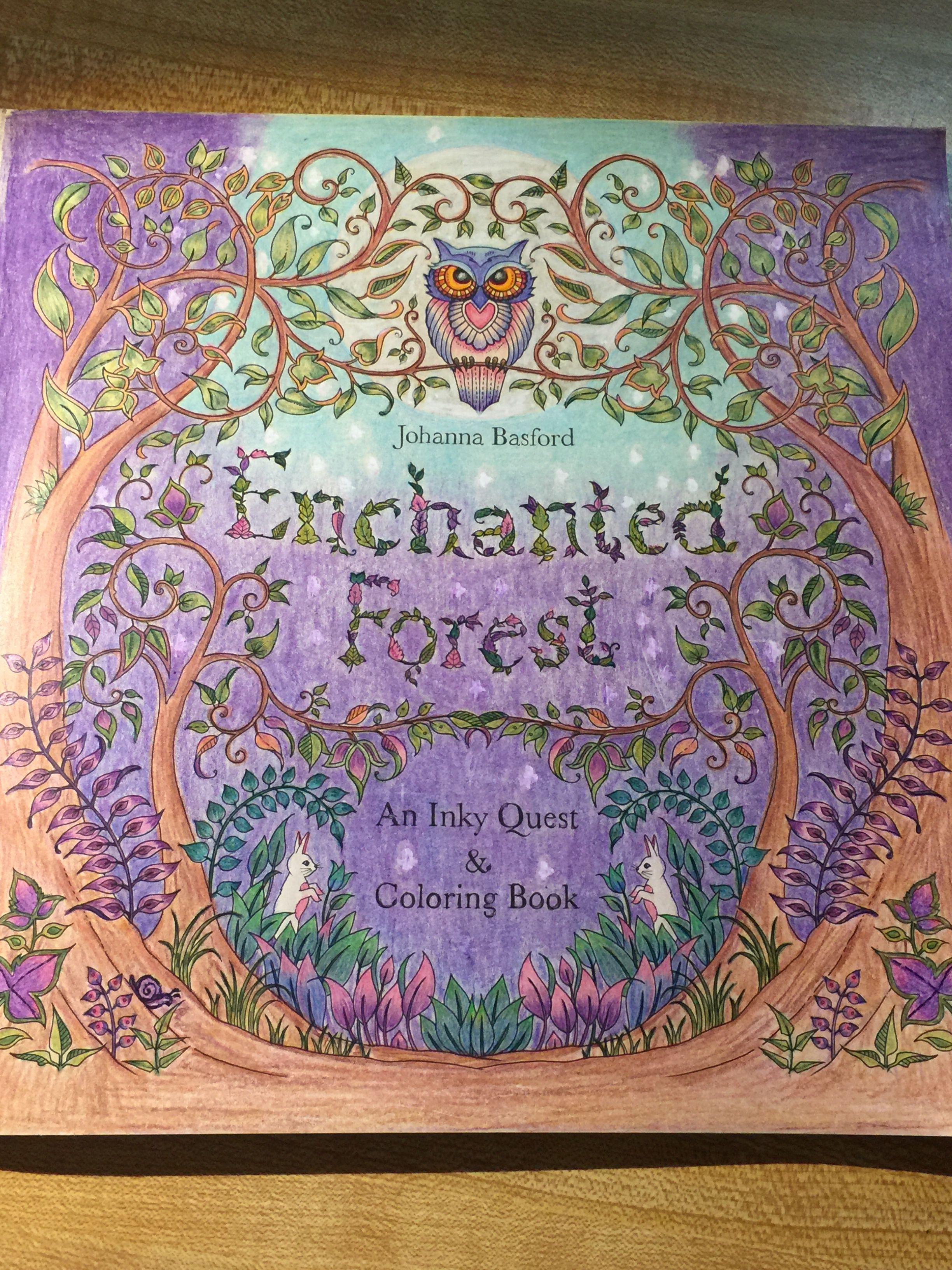 My Enchanted Forest Title Page Coloured Using YouTube Videos Part 1 To 3 By Colourful Me
