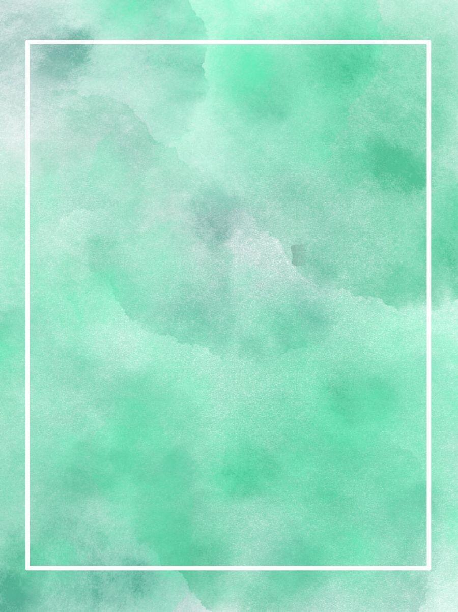 2020 的 Simple Small Fresh Green Watercolor Background 主题