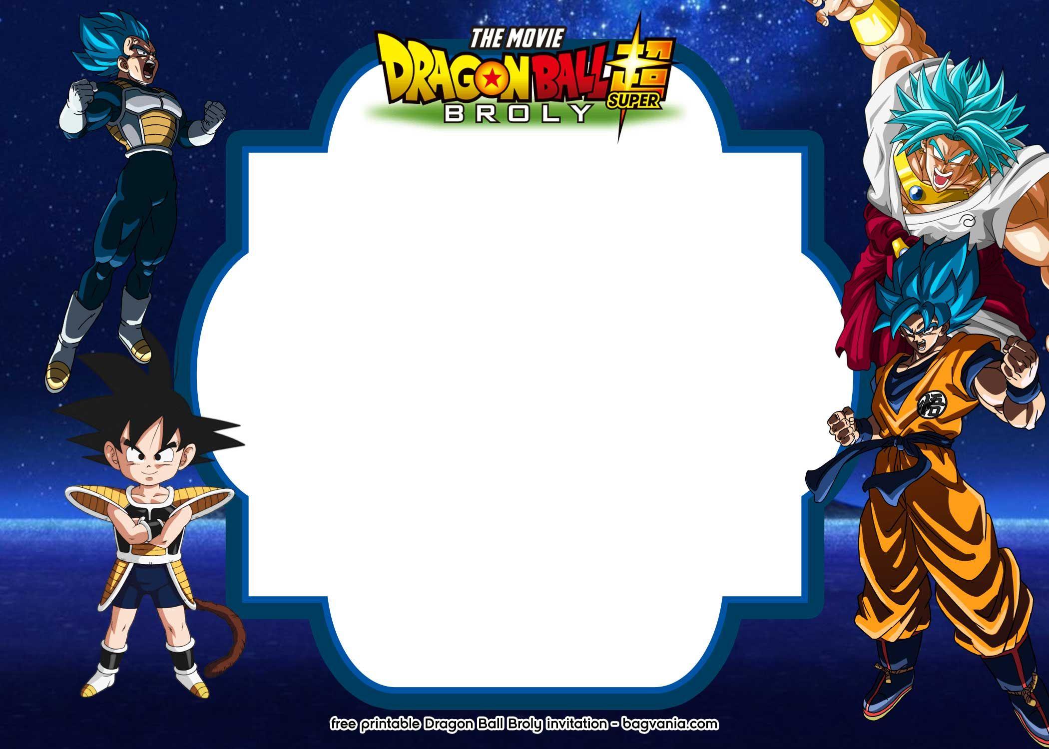 15 Free Printable Dragon Ball Super Broly Invitation Templates Free Printable Birthday Invitations Printable Birthday Invitations Dragon Ball