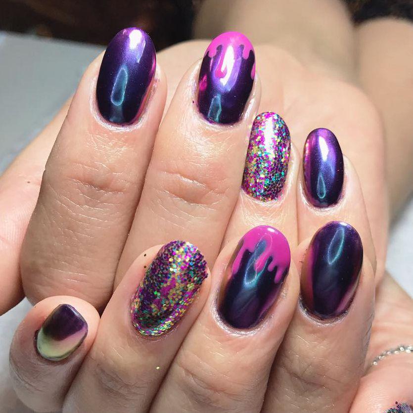 Plume Nail Design Hand Painted Nail Art Custom Designs Plume