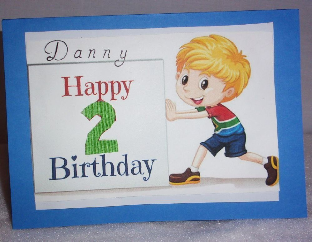 Free US Shipping Boys Birthday Card To Frame For KIds Personalized Made In The USA 27 By DecorativeArtbyBarb On Etsy