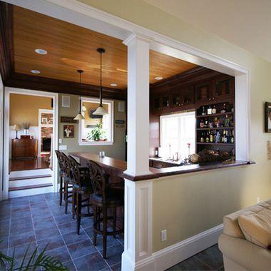 Half Wall Trim Ideas For The Home Pinterest Home Half Wall Kitchen Half Walls
