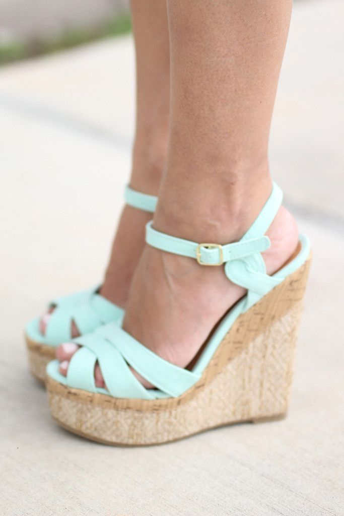 a45b8e3f8 Mint Wedges in 2019 | outfits | Shoes, Mint wedges, Wedge shoes
