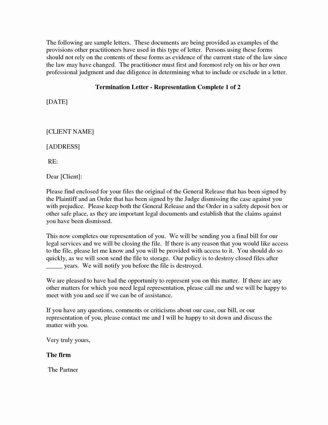 Attorney Client Letter Template Unique Letter Termination Free Printable Documents Letter Templates Lettering Letter Template Word Sample attorney letter of representation