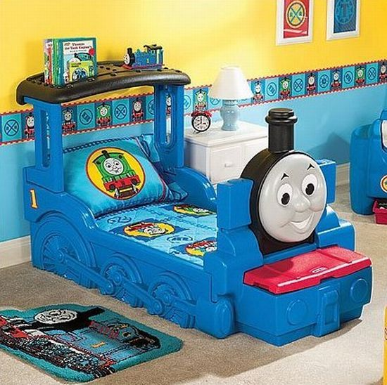 Thomas The Tank Engine Bed Train Room Decor Train Bed Toddler