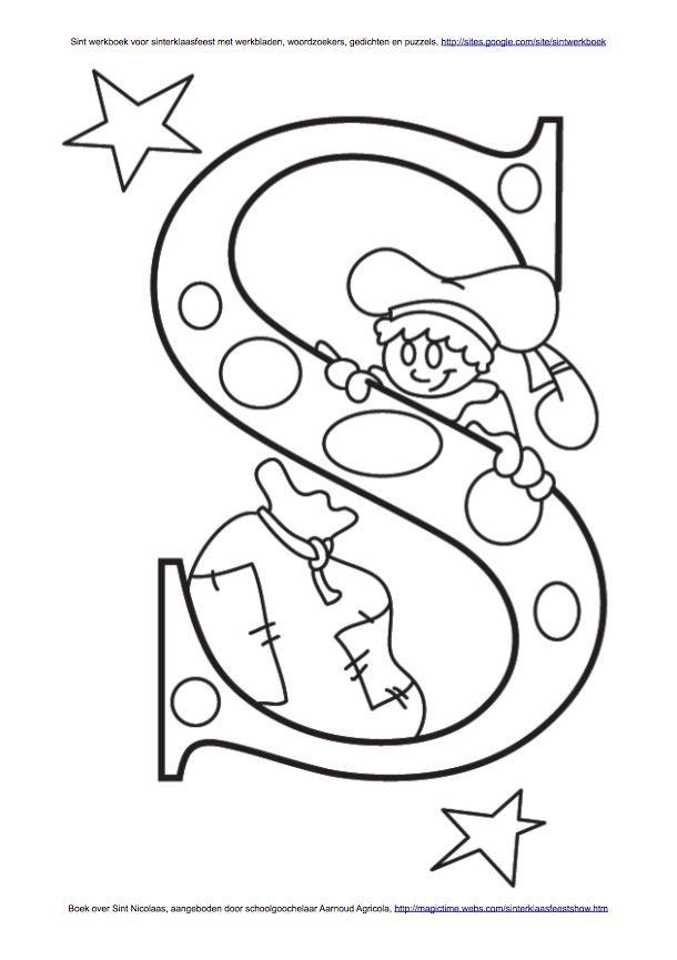 letter p kleurplaat piet