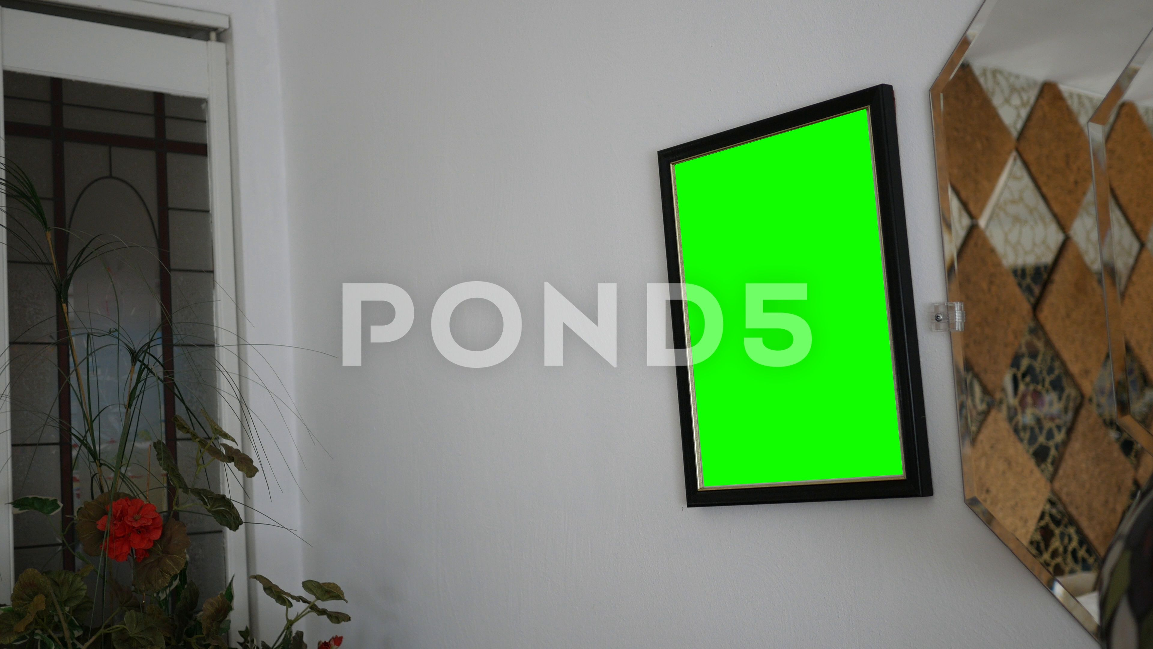 Green Screen Picture Frame In Modern Living Room Wall Stock Footage Ad Frame Modern Picture Gree Modern Living Room Wall Living Room Wall Modern Living Room