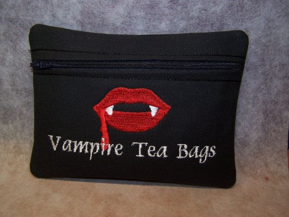 Vampire Tea Bags Tampon Maxi Pad Bag Zippered By Woobiesgifts