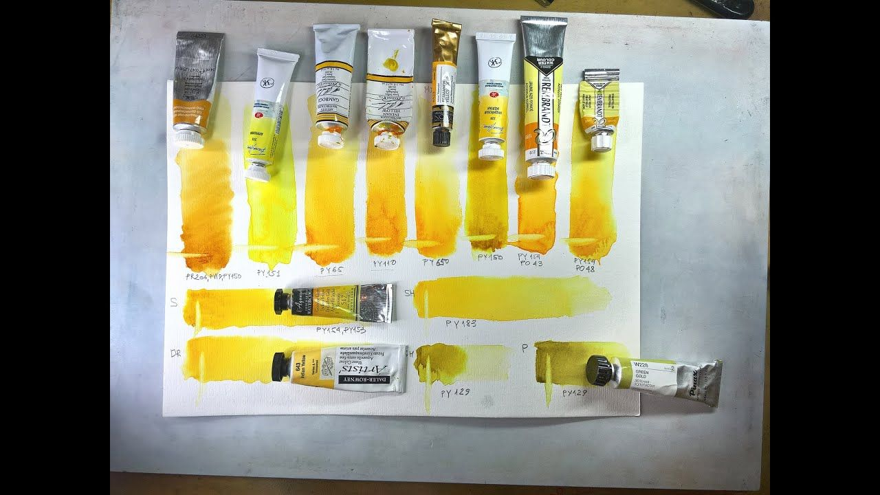 A Review Of Yellow Watercolor Paints Reminiscent Of Indian Yellow