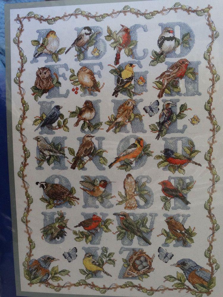 Bird Alphabet Janlynn Platinum Collection Counted cross Stitch Kit Sealed