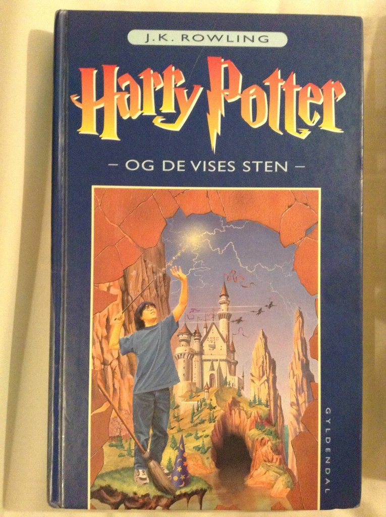 Danish Harry Potter And The Philosopher S Stone Book Cover Rowling Harry Potter Book Cover Books