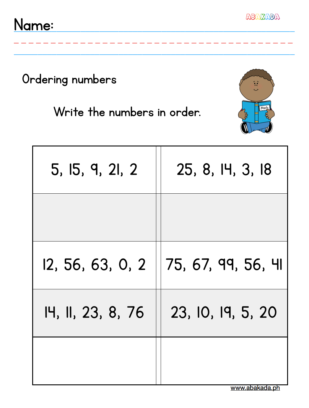 Worksheet For Grade 1 Students For Free
