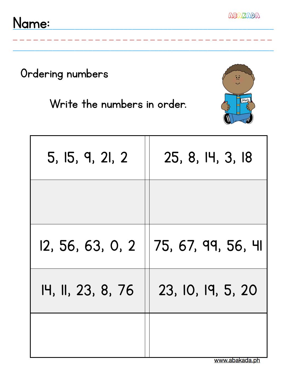 Worksheet for Grade 1 students for free. 1st grade